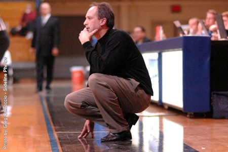 Head Coach Scott Coval became the third head coach at DeSales University to win 300+ career games.